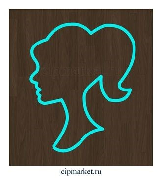 Вырубка Женский профиль. Материал: пластик. Размер: 7 см. - фото 6109
