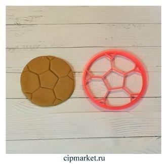 Вырубка со штампом Мяч футбольный. Материал: пластик. Размер: 8 см. - фото 6121