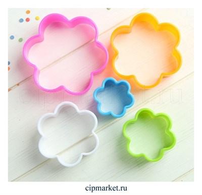 Набор форм для вырезания печенья Цветок, 5 шт.Размер: 9 см, 8 см, 6,7 см, 5,5 см, 4 см - фото 6176