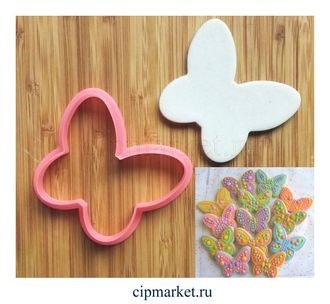 Вырубка Бабочка. Материал: пластик. Размер: 7 см. - фото 6208
