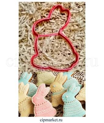 Вырубка Кролик пасхальный. Материал: пластик. Размер: 8 см. - фото 6213
