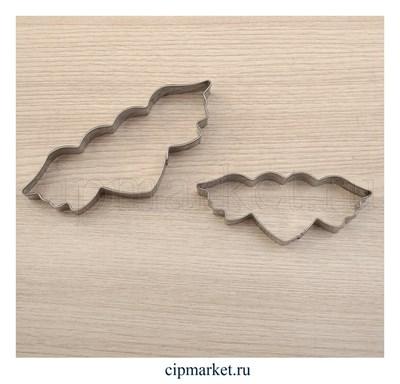 Набор форм для вырезания печенья Сердце с крыльями. Размер: 9x4 см, 2 шт. - фото 6227