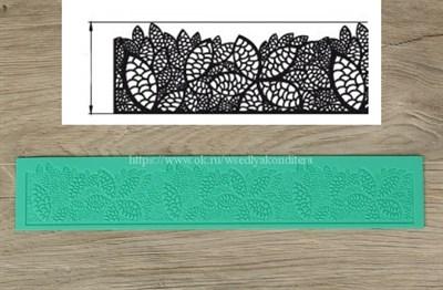 Мат силиконовый для создания кружева  Листва. Размер: 40х6 см - фото 6253