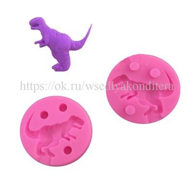 """Молд """"Динозавр"""". Диаметр молда: 5 см. - фото 6281"""