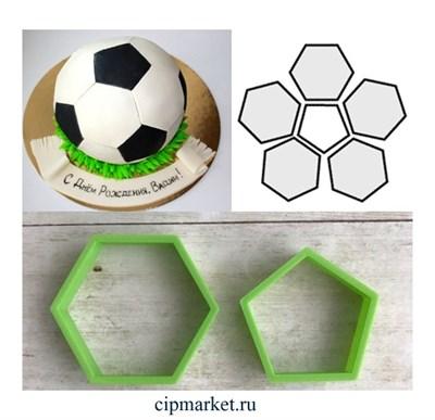 Набор вырубок для создания Футбольного мяча, 2 шт. Размер сторон: 3 см - фото 6328