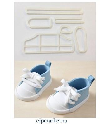 Набор для создания кроссовок, 6 шт, пластик. Размер подошвы: 7 см * 2,8 см. - фото 6343