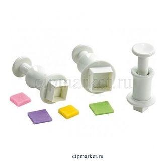 Набор плунжеров Квадраты, 3 шт. Размер: 1,9 см, 1,3 см, 0,9 см. - фото 6381