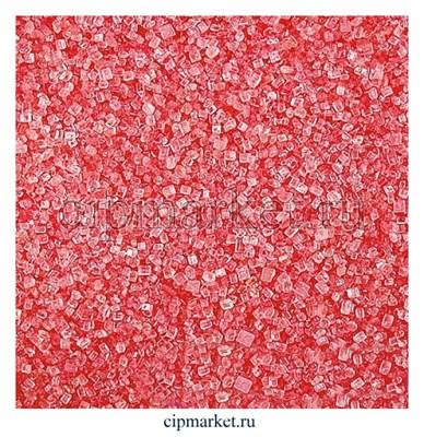 Посыпка сахарные кристаллы розовые. Вес: 100 гр. - фото 6666