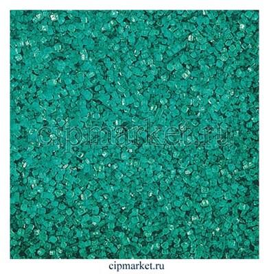 Посыпка сахарные кристаллы бирюзовые. Вес: 100 гр - фото 6668