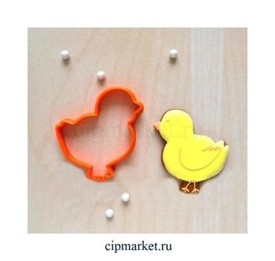 Вырубка Цыпленок. Материал: пластик. Размер: 8 см. - фото 6689