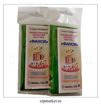 Мастика сахарная Фанси Зеленая (универсальная), Россия. Вес: 100 гр - фото 6745