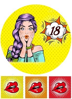 Съедобная картинка Девушка 18 лет № 01345, лист А4. Вафельная/сахарная картинка - фото 6799