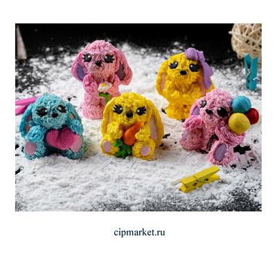 Фигурка сахарная Зайка гламурик маленький. Размер: 4 -7 см - фото 6884