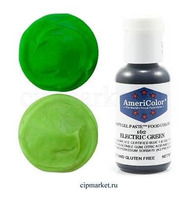 Краситель гелевый AmeriColor, цвет: ELECTRIC GREEN, 21 гр - фото 6957