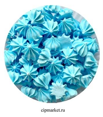 Сахарные фигурки мини-безе Голубые. Вес: 40 гр. Размер: 1 см. - фото 6996
