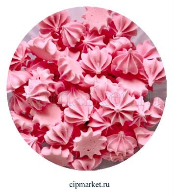 Сахарные фигурки мини-безе Розовые. Вес: 40 гр. Размер: 1 см. - фото 6997