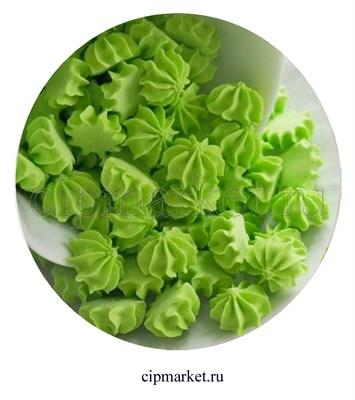 Сахарные фигурки мини-безе Зеленые. Вес: 40 гр. Размер: 1 см. - фото 6999