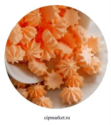 Сахарные фигурки мини-безе Персиковые. Вес: 40 гр. Размер: 1 см. - фото 7001