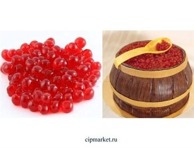 Шарики желейные со вкусом клубники 3-4 мм. Вес: 100 гр, фасовка. - фото 7004