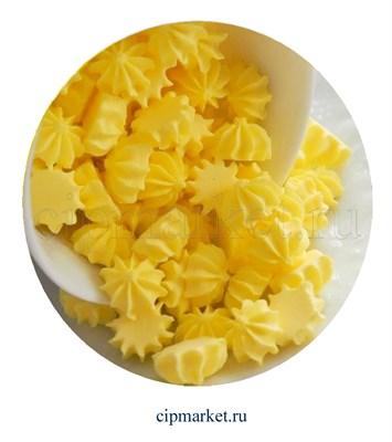 Сахарные фигурки мини-безе Желтые. Вес: 40 гр. Размер: 1 см. - фото 7007