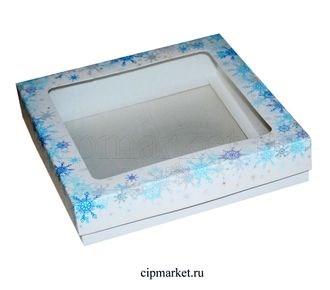 Коробка для пряников и сладостей с окном №29 (Новый год). Размер:17*17*3,5 см - фото 7044
