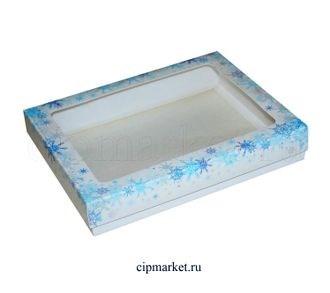 Коробка для пряников и сладостей с окном МК (Новый год). Размер:21*17*3,5 см - фото 7046