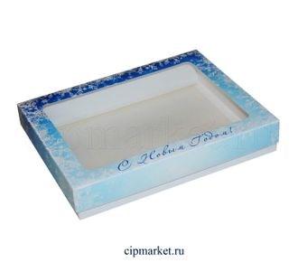 Коробка для пряников и сладостей с окном МК (Новый год). Размер:21*17*3,5 см - фото 7047