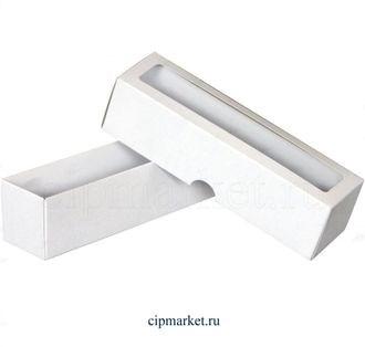 Коробочка для макарун ПК Белая. Размер: 21 х 5,5 х 5,8 см - фото 7051