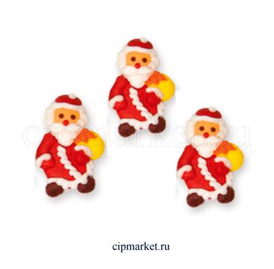 Фигурка сахарная Дед Мороз (плоский). Размер: 4,5 см - фото 7075