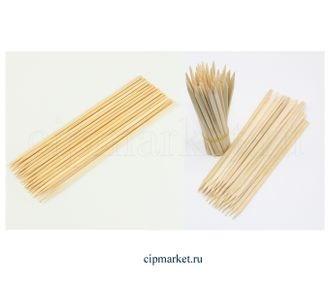 Шпажки бамбуковые толстые в ассортименте, набор 100 шт. Размер: 35 см - фото 7076