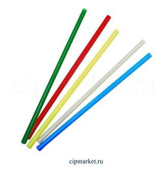 Трубочки для коктейлей пластиковые широкие, d=0,8 см, 100 шт. - фото 7084