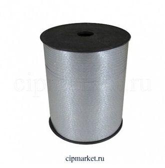 Лента полипропилен Серебро. Ширина: 0,5 см. Длина: 230 м. - фото 7103