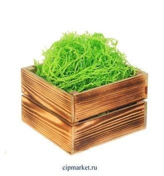 Наполнитель бумажный Зелёный. Вес: 50 гр. - фото 7123