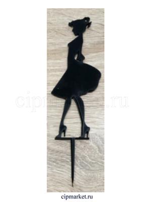 Топпер пластик Девочка в платье - фото 7180