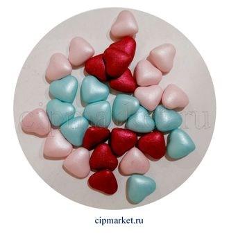 Посыпка-драже сахарное BIAMIX Микс Сердца разноцветные. Вес: 30 гр, Греция - фото 7257