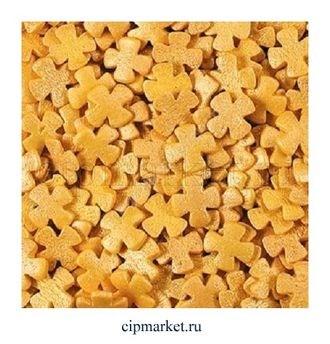 Посыпка Крестики золотые. Вес: 50 гр. - фото 7316