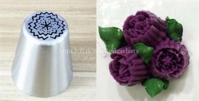"""Насадка """"Малазийская роза"""". Диаметр ниж: 3,8 см, верх: 2,5 см, высота: 4,3 см. - фото 7428"""