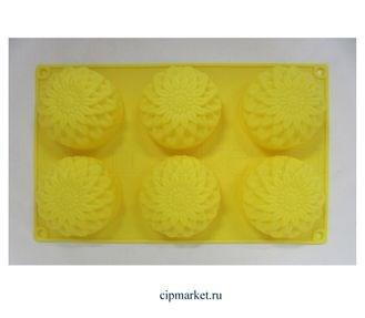 Форма для выпечки 27×18 см «Полусфера», 6 ячеек (7×7×3,5 см) Формы для выпечки и шоколада сфера круг - фото 7634