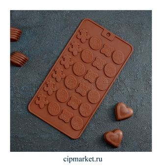 Форма для шоколада и конфет Узоры, 24 ячейки. Размер: 21*11 см. - фото 7672