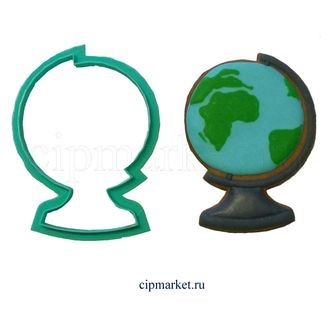 Вырубка Глобус Материал: пластик. Размер: 8 см - фото 7774