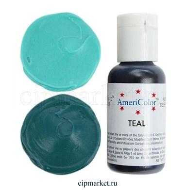 Краситель гелевый AmeriColor, цвет: TEAL, 21 гр - фото 7907