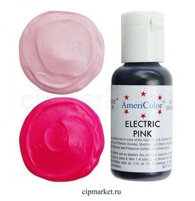 Краситель гелевый AmeriColor, цвет: ELECTRIC PINK (розовый электрик) , 21 гр . - фото 7909