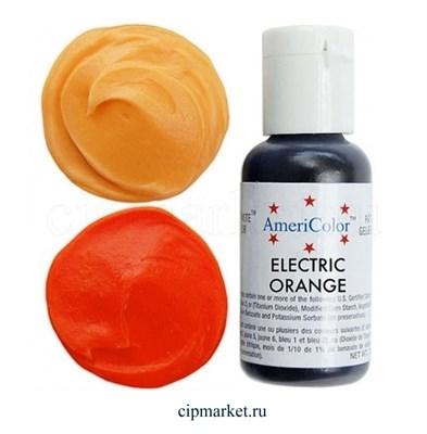Краситель гелевый AmeriColor, цвет: ELECTRIC ORANGE, 21 гр - фото 7923