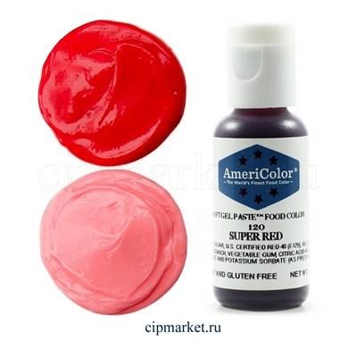Краситель гелевый AmeriColor, цвет:  SUPER RED,  21 гр - фото 7930