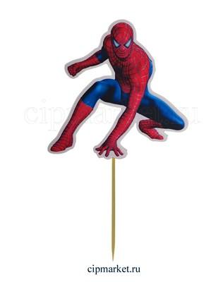 Топпер пластик СТ Мульт Человек в красном. Размер фигурки: 13*13 см - фото 8041