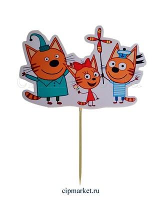 Топпер пластик СТ Мульт Три кота. Размер фигурки: 16*11 см - фото 8047