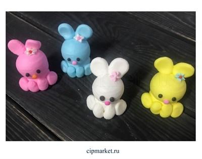 Фигурка сахарная Кролик большой.Цвет микс. Размер: 7 см - фото 8163
