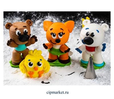 Фигурка сахарная Веселые мишки, набор 4 шт. Размер: 3-6,5 см - фото 8175