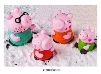 Фигурка сахарная Семья свинок, набор 4 шт. Размер: 3-4,5 см - фото 8177