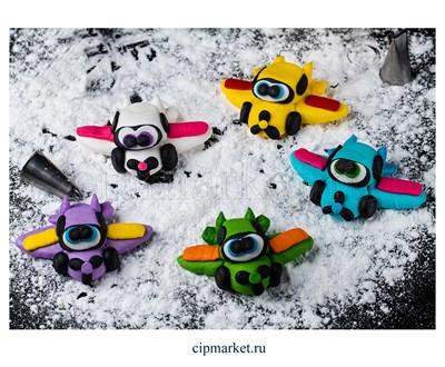 Фигурка сахарная Веселый самолетик. Цвет микс. Размер: 5 см - фото 8183